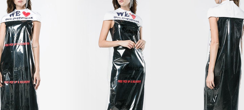 Сукня із кулька для хімчистки від Moschino – за $730