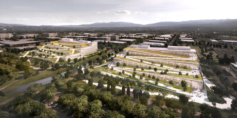 Google показав проект свого нового офісу в США