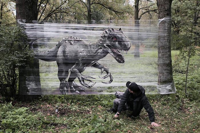 Графіті ноу-хау: російський дизайнер розмалював … ліс! (Фото)