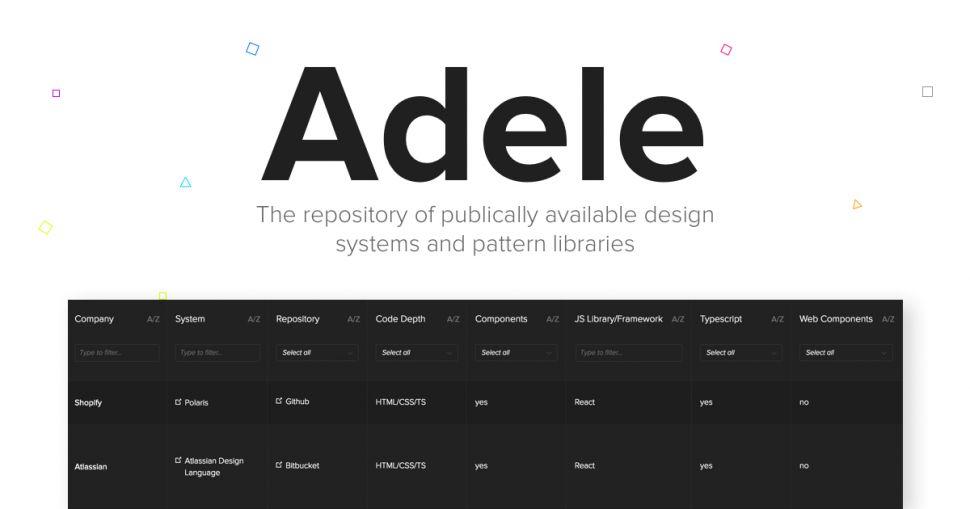 Adele: новий проект що дає можливість дослідити системи дизайну топ-компаній