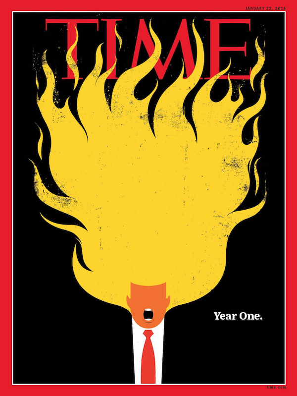 Нова брутальна ілюстрація Time – на тему Трампа