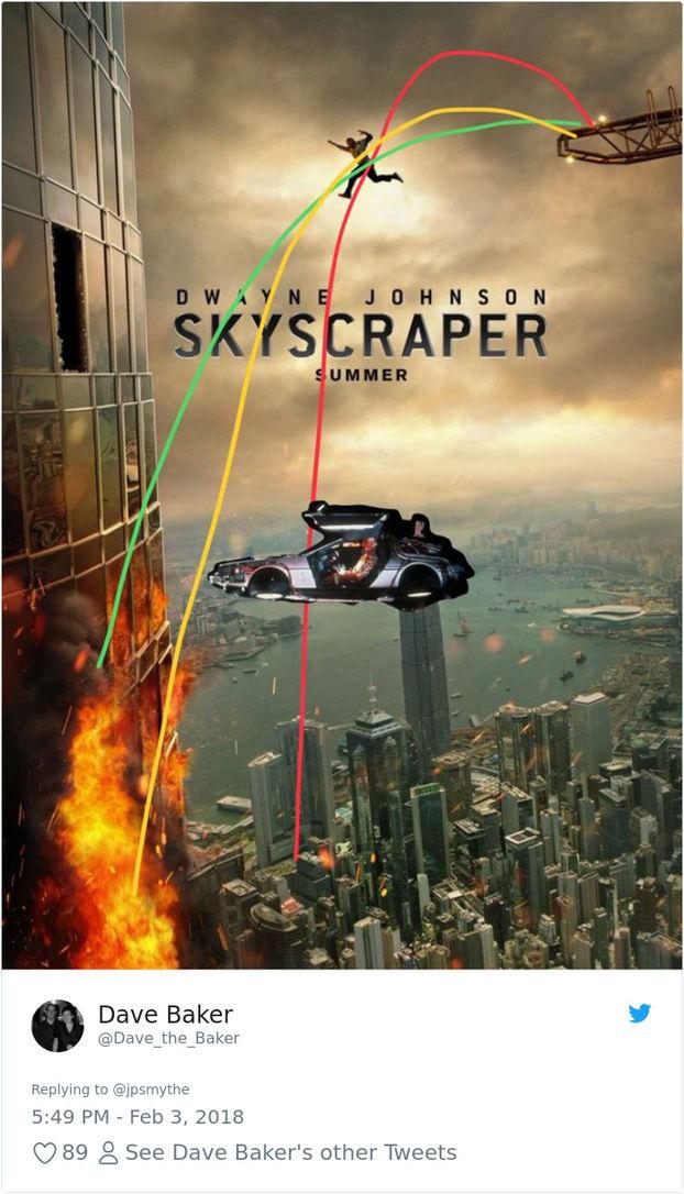 Як не треба робити постери: світ регоче над Skyscraper – новим фільмом Двейна Джонсона (ФОТО)