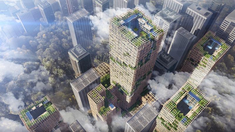 Неймовірно: в Японії збираються побудувати … дерев'яний хмарочос за $5,5 млрд! (ФОТО)