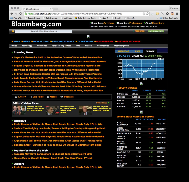 Bloomberg змінив дизайн – 7-й раз (!) за 8 років