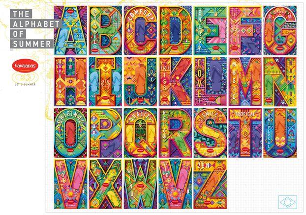 """Бренд в'єтнамок Havaianas запустив кампанію """"Алфавіт"""" – за допомогою різних літер з унікальним дизайном"""