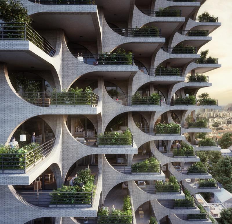Суцільні паттерни і дуже багато терас – цікавий проект у Тель-Авіві