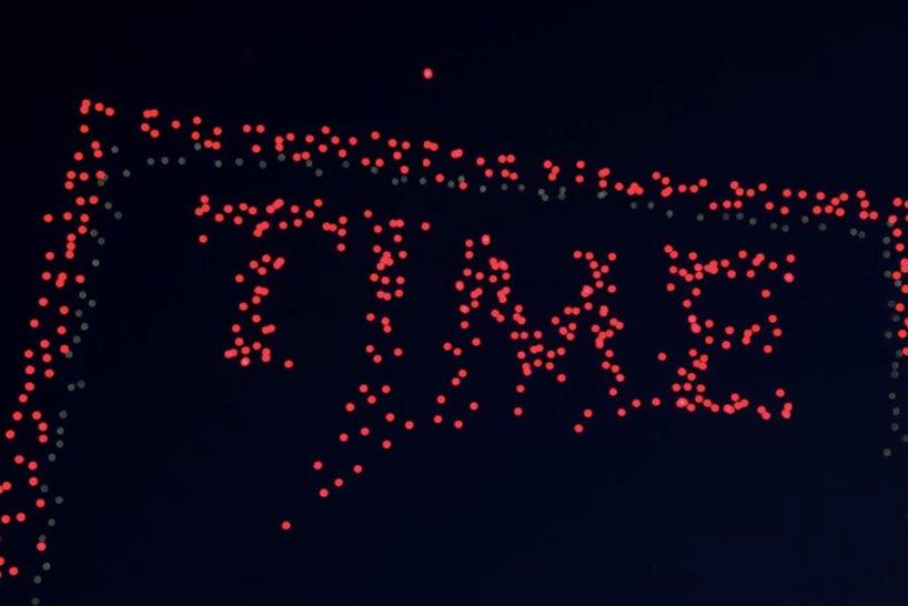 Журнал TIME створив найбільшу в історії обкладинку завдяки 958 дронам (ФОТО, ВІДЕО)