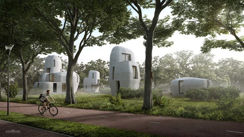 У Ейндховені побудують першу в світі житлову забудову з 3D-друкованого бетону (ФОТО)