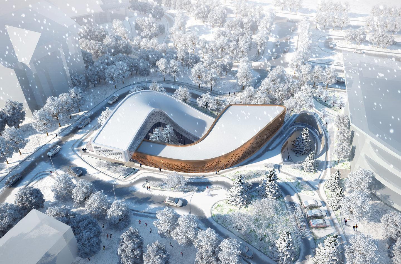 Чергове архітектурне диво в Китаї – до Зимової Олімпіади 2022 (ФОТО)