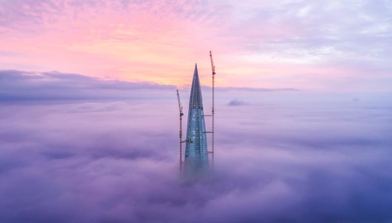 У Пітері майже добудували найвищий хмарочос у Європі (ФОТО)