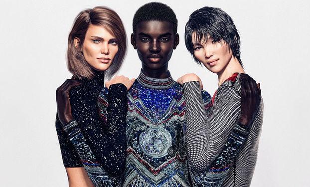 Привіт, віртуальний світ: Французький будинок моди Balmain використав відразу 3 віртуальних моделей