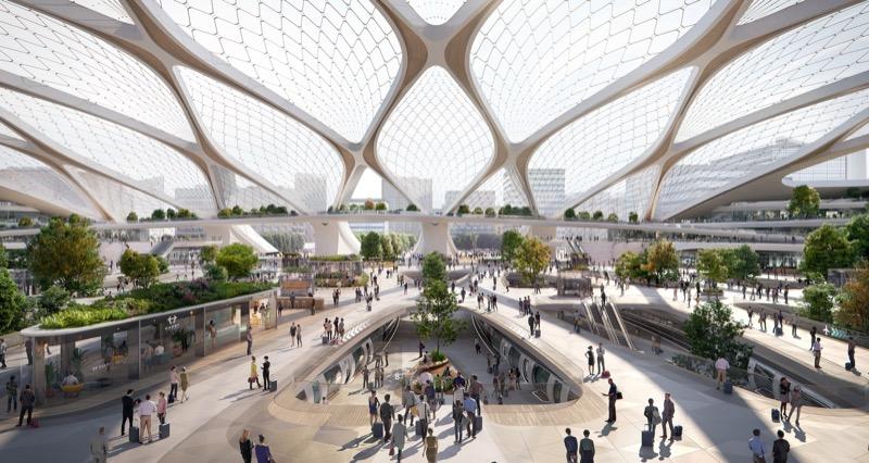 Майбутнє транспорту Європи: Hyperloop з модульними хабами (ДУЖЕ цікавий концепт)