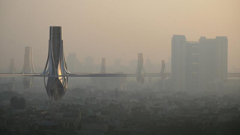 Як інноваційний дизайн зможе врятувати столицю Індії від смогу (ФОТО)