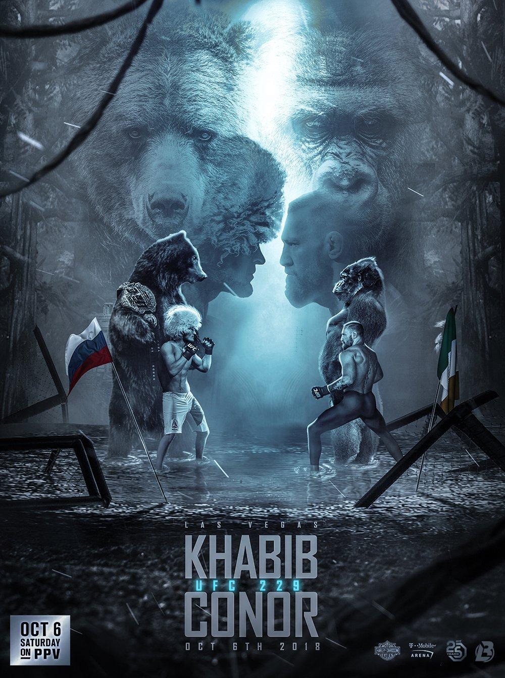 """Дещо кумедний """"тваринний"""" дизайн постеру найголовнішої UFC події 2018 року"""
