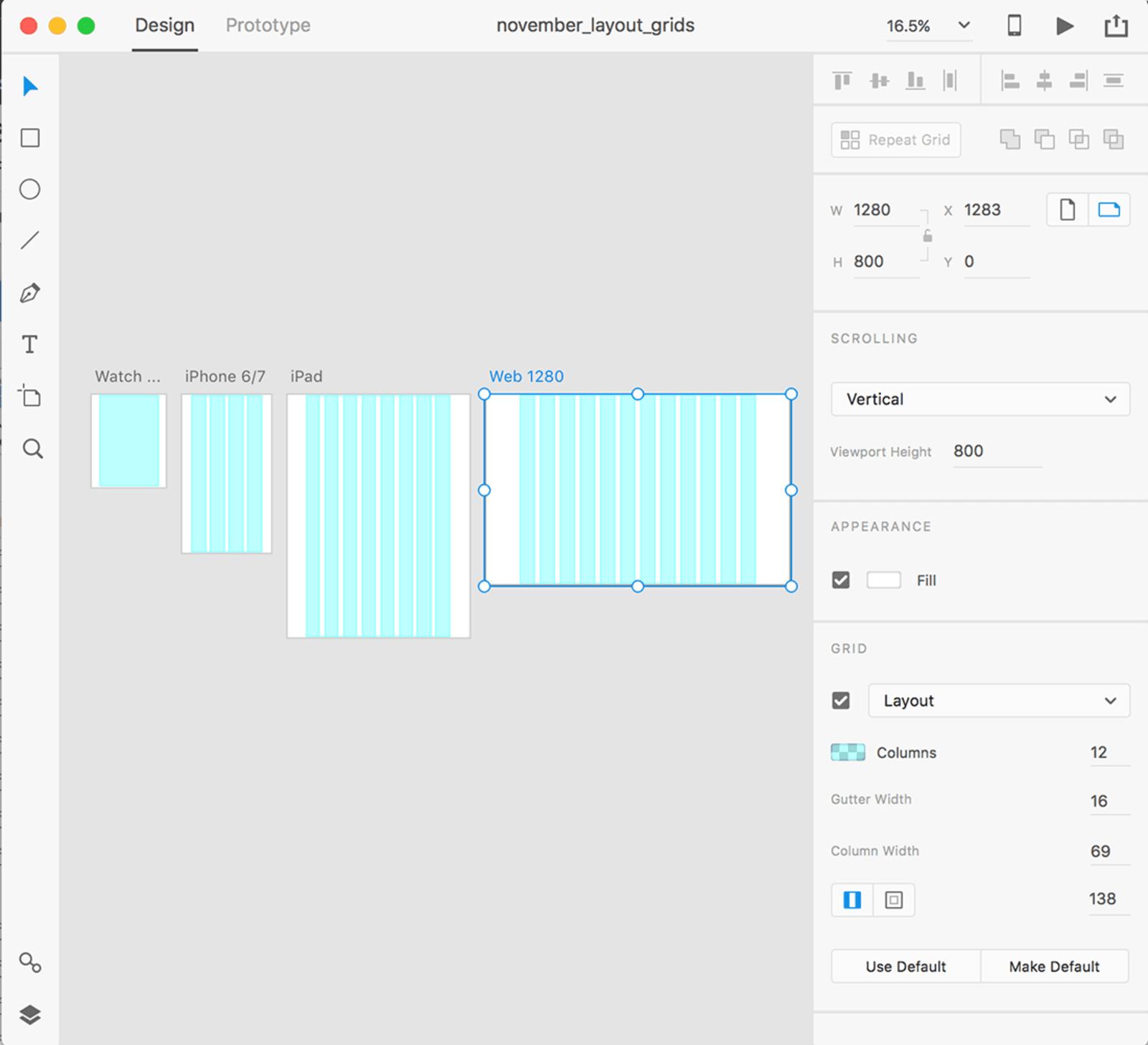 Макети сітки в Adobe XD