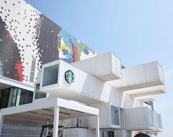 ВАУ-дизайн кав'ярні від Starbucks у Тайвані: вона побудована із… транспортних контейнерів (ФОТО)