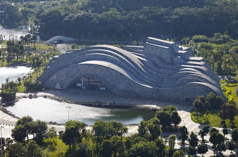 Феноменальний дизайн: будинок у вигляді гори в Китаї (ФОТО)