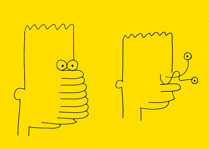 Шалені ілюстрації Барта Сімпсона від японського дизайнера (ФОТО)