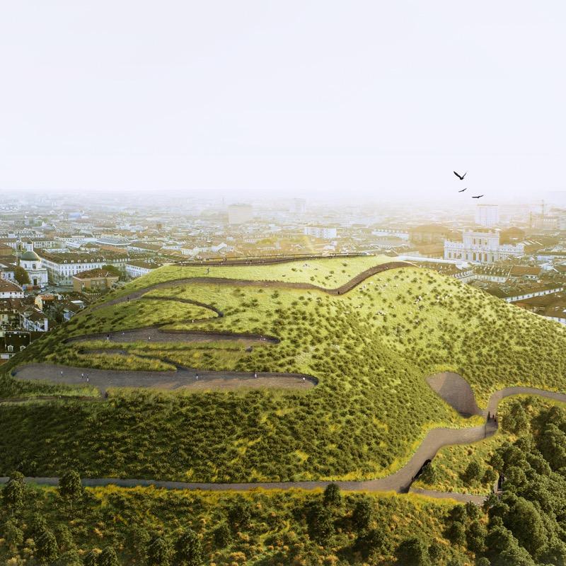 УНІКАЛЬНИЙ еко-дизайн у Турині: пагорб із ґрунту буде боротися з викидами СО2 (ФОТО)
