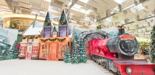 Новорічний дизайн: аеропорт Сингапуру перетворили на чарівний світ Гаррі Поттера (ФОТО)