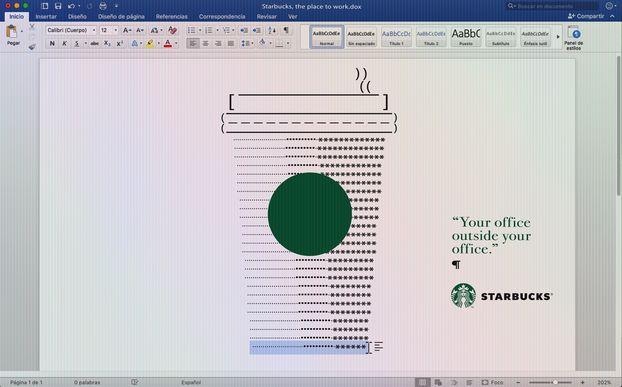 Свіжий креативчик від Starbucks: рекламні принти у… офісних редакторах! (ФОТО)