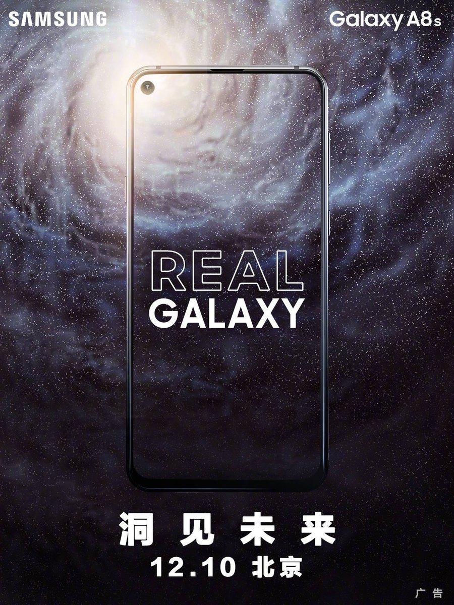 """Samsung випустить смартфон """"з діркою"""" у дисплеї – Galaxy A8S (ФОТО)"""