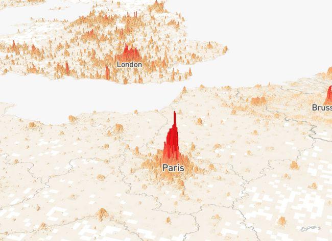 Дуже цікава візуалізація даних: населення Землі