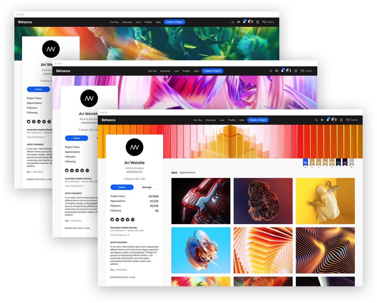 Раптом ви пропустили: Behance оновив дизайн профілів та сторінок проектів (ФОТО)