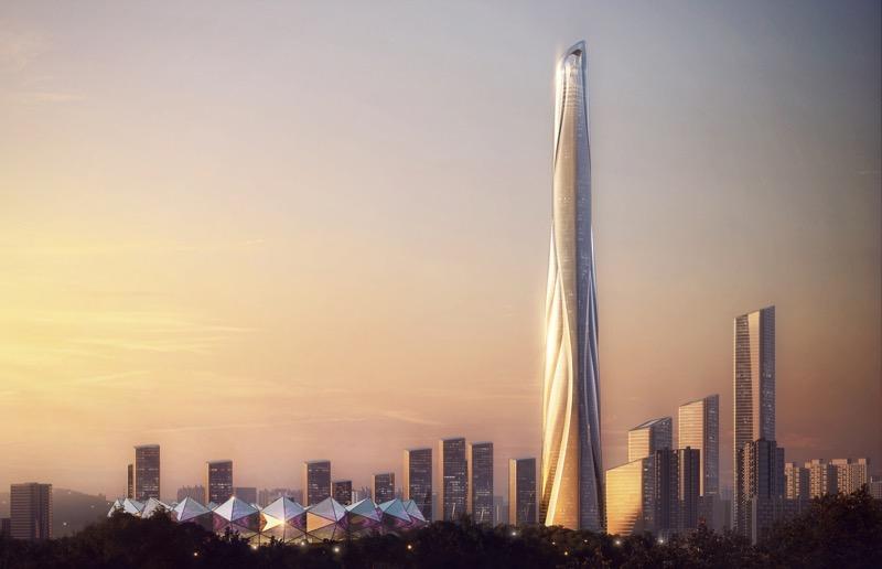 Найвищий хмарочос Китаю матиме висоту 700 метрів (ФОТО)