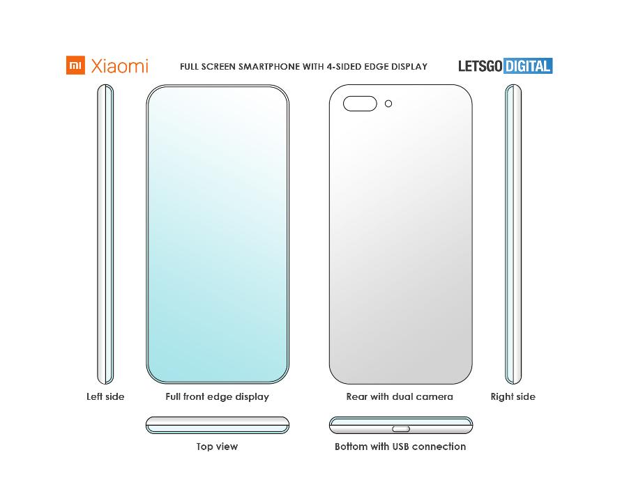 Xiaomi запатентувала унікальний дизайн смартфона (ФОТО)