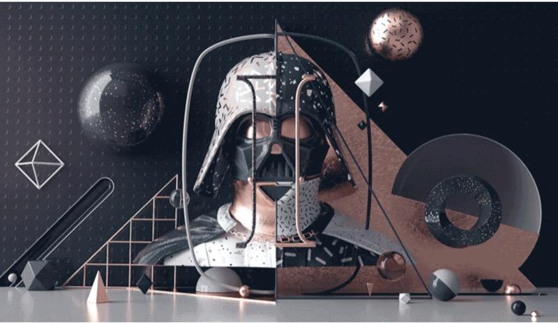 3D графіка + моушен + Дарт Вейдер і Девід Бові = ВАУ-ілюстрації (ФОТО)