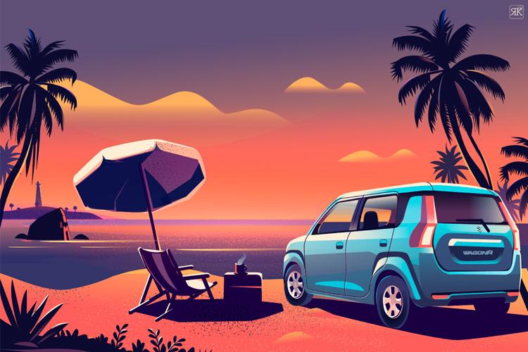 Симпатичні ілюстрації для не надто гарного авто від Suzuki (ФОТО)