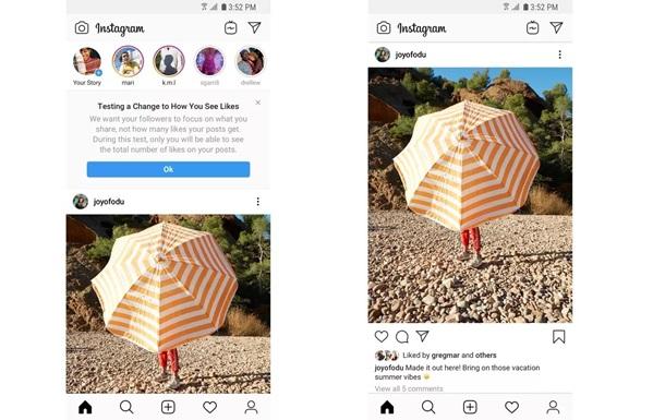 Instagram без лайків – вже реальність! Ось як виглядає дизайн соцмережі у деяких країнах (ФОТО)