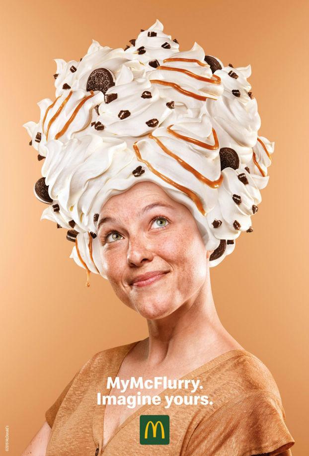 """Вельми дивний креативний дизайн від McDonald's – """"приміряйте"""" Макфлурі на себе"""