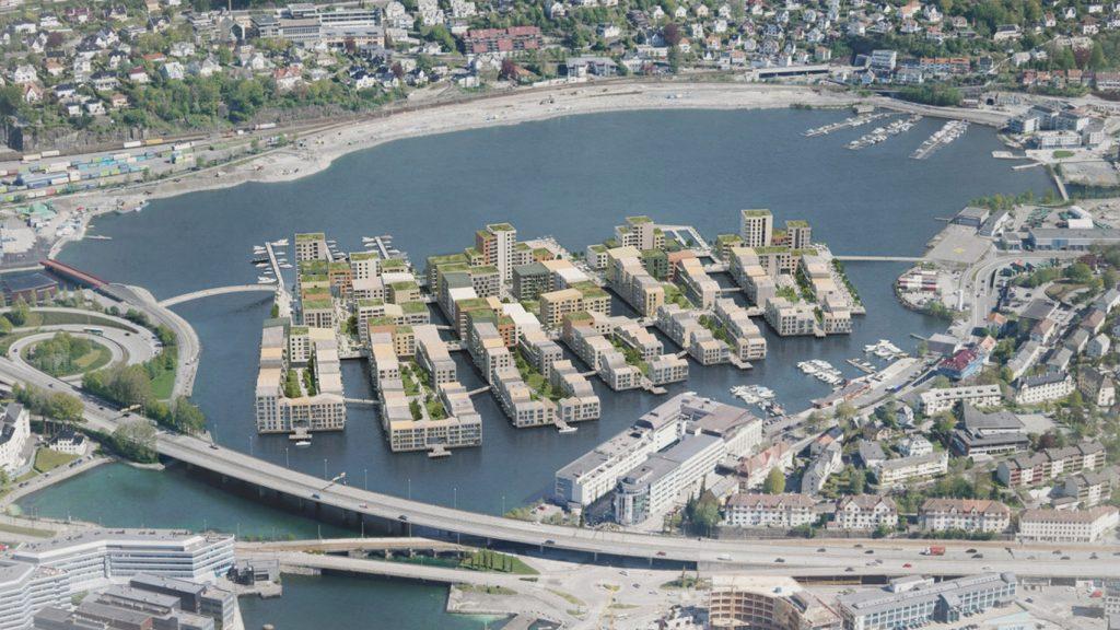 Енергетична незалежність втілена у дизайні: унікальний район Trenezia на озері, у Норвегії