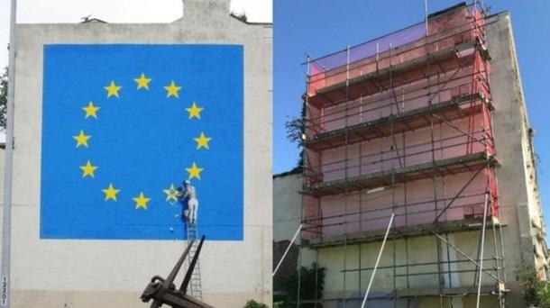 Дуже відоме графіті від культового художника Бенксі зникло у Британії (ФОТО)