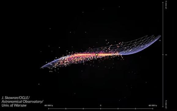 Як насправді виглядає наша галактика – унікальне ВІДЕО 3D-карти Чумацького шляху