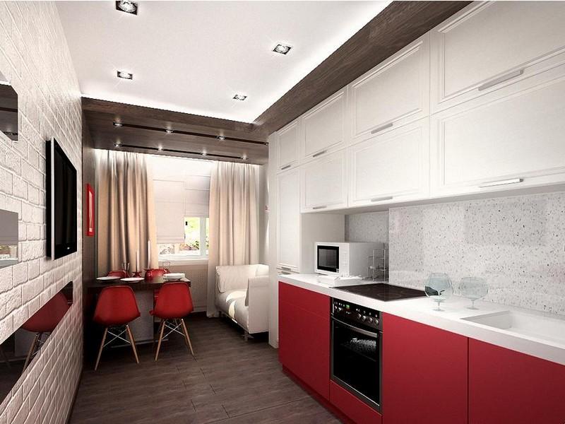 стеля на кухні в стилі мінімалізм фото