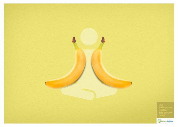 Дієта і фізичні вправи + мінімалістичний дизайн = гарні рекламні принти (ФОТО)