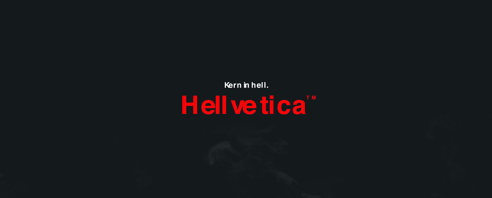 Hellvetica шрифт