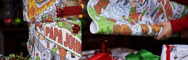 Папір для обгортання із запахом піцци – дизайнова бімба від Papa John's
