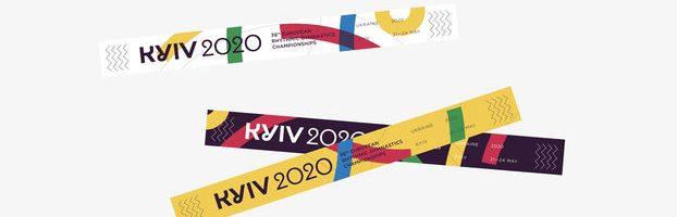 Айдентика тижня – для ЧЄ 2020 з художньої гімнастики, у Києві