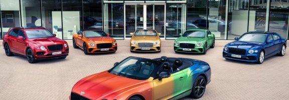 """Bentley презентувала """"веселковий"""" дизайн кабріолету – на підтримку сексуальних меншин (ФОТО)"""