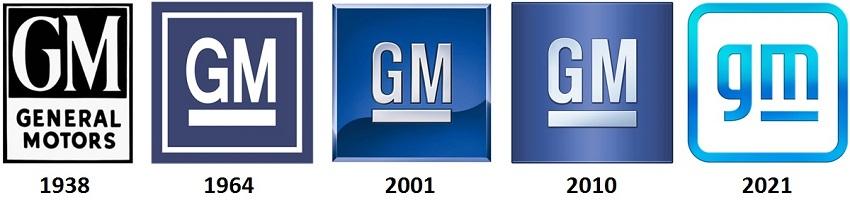 як виглядали логотипи GM